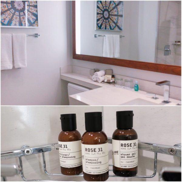 victoria british columbia canada fairmont empress luxury hotel deluxe king room bathroom