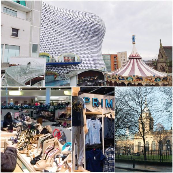 birmingham uk england stopover bullring shopping city centre selfridges bullring primark jimmy choo cathedral