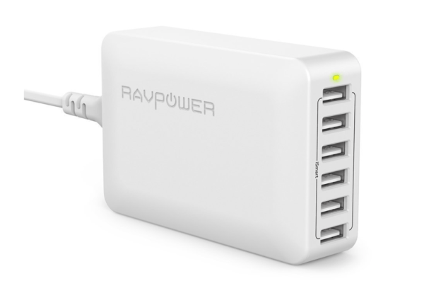 top-10-accessories-for-iphone-multi-charger-RAVPower-60W-6Port-USB-Charging-Station