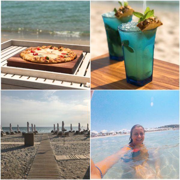 sani dunes luxury beach hotel resort halkidiki greece sovereign luxury travel drone photo of resort pool beach pizza