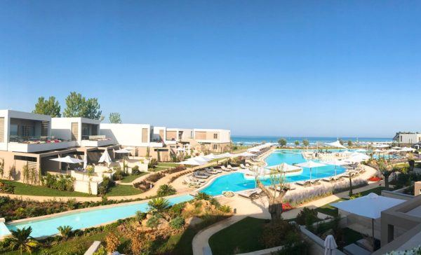 sani dunes luxury beach hotel resort halkidiki greece sovereign luxury travel pool cover 2