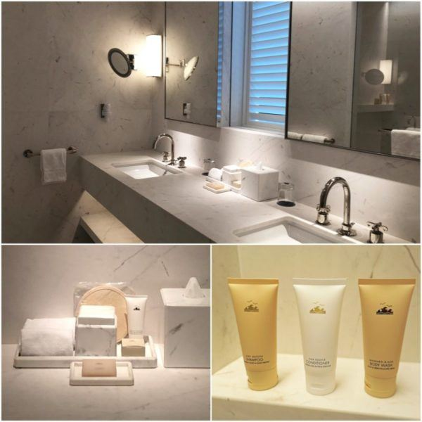 miami florida luxury hotel review four seasons hotel at the surf club surfside oceanfront room bathroom 1