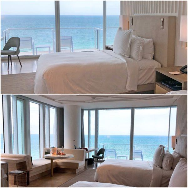 miami florida luxury hotel review four seasons hotel at the surf club surfside oceanfront twin room 1