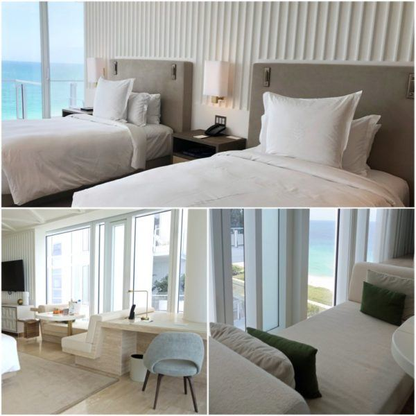 miami florida luxury hotel review four seasons hotel at the surf club surfside oceanfront twin room 3