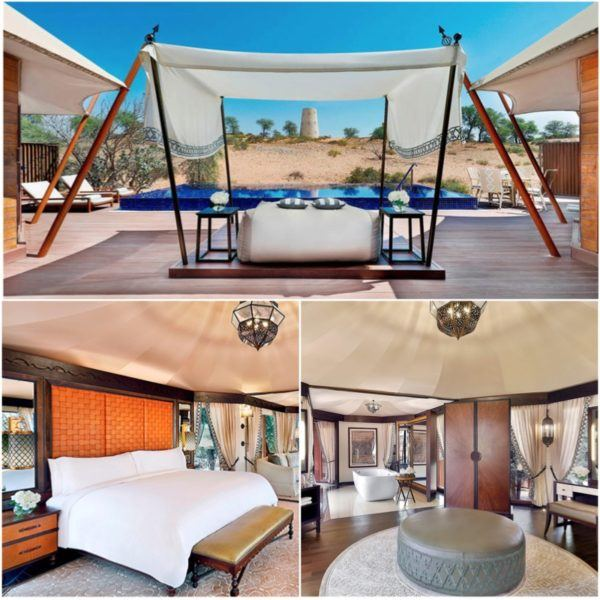 luxury hotels in the uae not in dubai ritz carlton al wadi desert resort tent