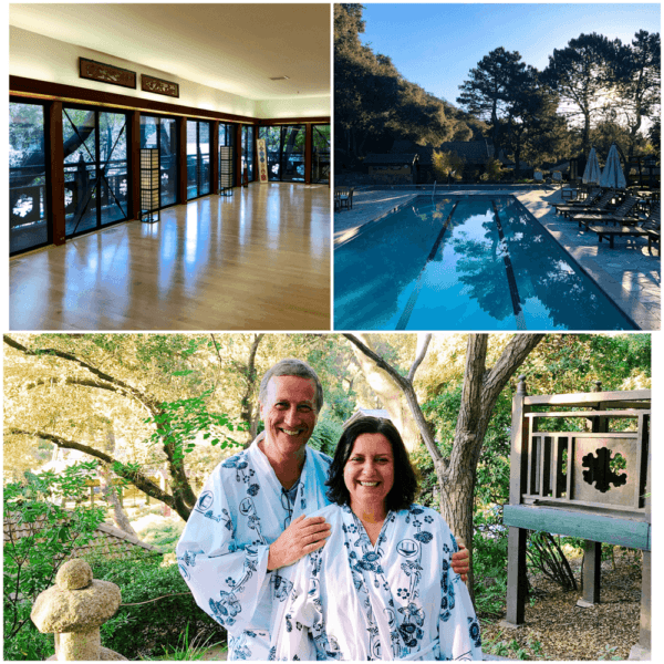 golden door luxury destination spa retreat between san diego and los angeles fitness weight loss wellness mindfullness meditation class yukata robe that people wear to dinner