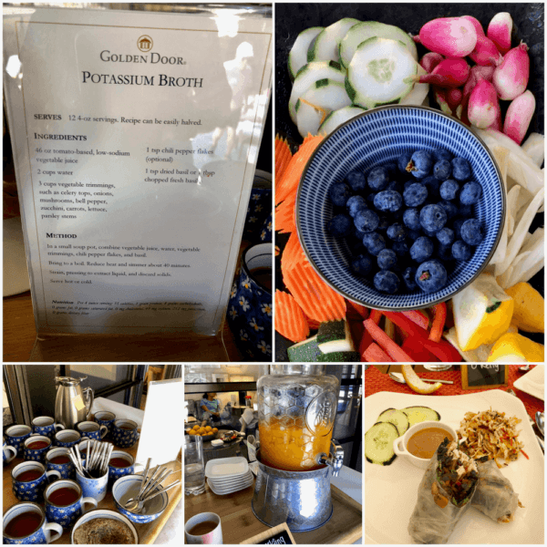 golden door luxury destination spa retreat between san diego and los angeles fitness weight loss wellness mindfullness potassium broth organic vegetable snacks