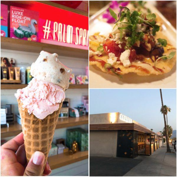 california road trip luxury travel palm springs best dining sand fish sushi ice cream