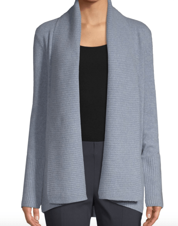 clothes to wear on a ski holiday saks cashmere cardigan