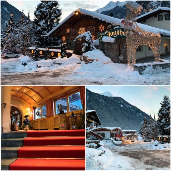 Jagdhof Luxury Ski Hotel Relais Chateau Neustift im Stubaital 30 minutes Stubaier Gletscher ski area innsbruck entrance to hotel