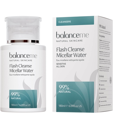 balance me flash cleanse best micellar water top 5 beauty essentials spring