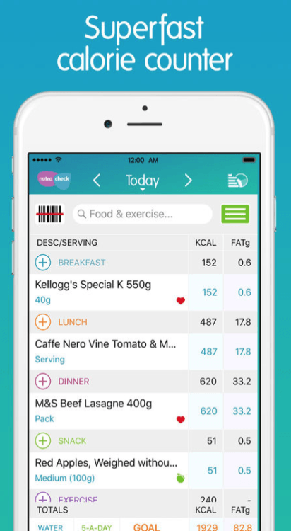 health and fitness app calorie counter by nutracheck