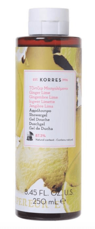korres ginger lime luxury shower gel top 5 beauty essentials spring