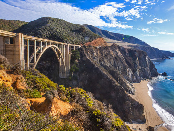 bixby bridge visit california