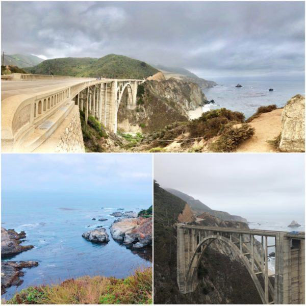 california roadtrip big sur bixby creek bridge cloudy day big little lies