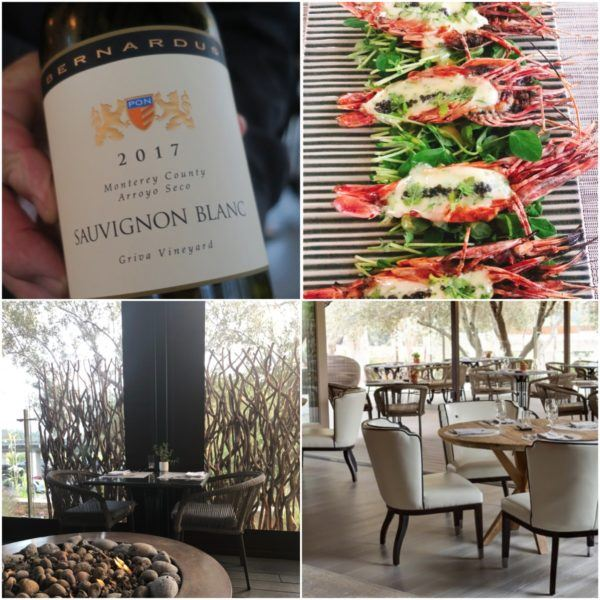 california roadtrip carmel valley bernardus lodge fine dining lucia restaurant sauvignon blanc monterey spot prawns