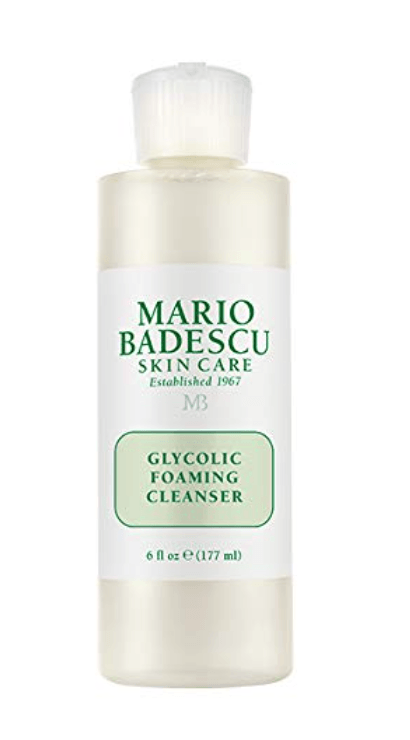 beauty essentials best skincare hair primer cleanser shower gel MARIO BADESCU Glycolic Foaming Cleanser