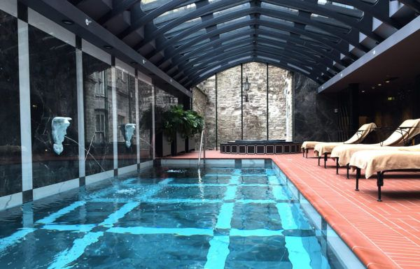 hotel telegraaf tallinn elemis spa pool luxury hotel marriott