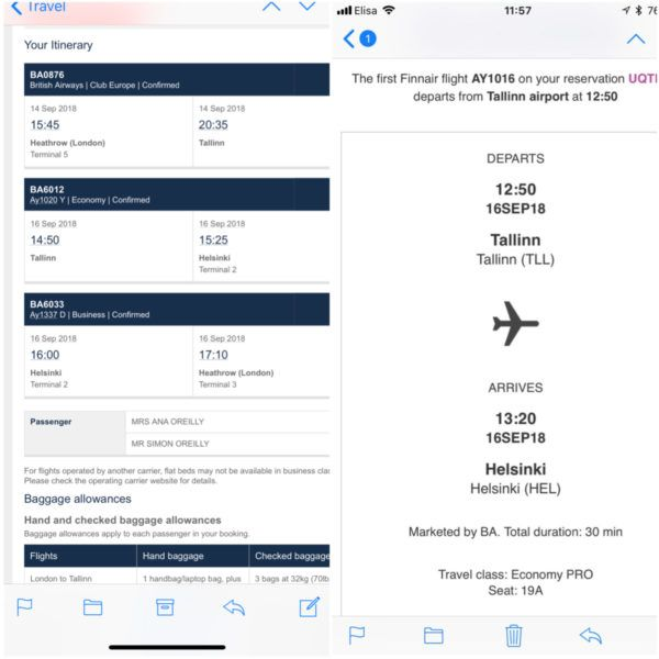 tallinn via helsinki 160 or 200 tier points british airways finnair