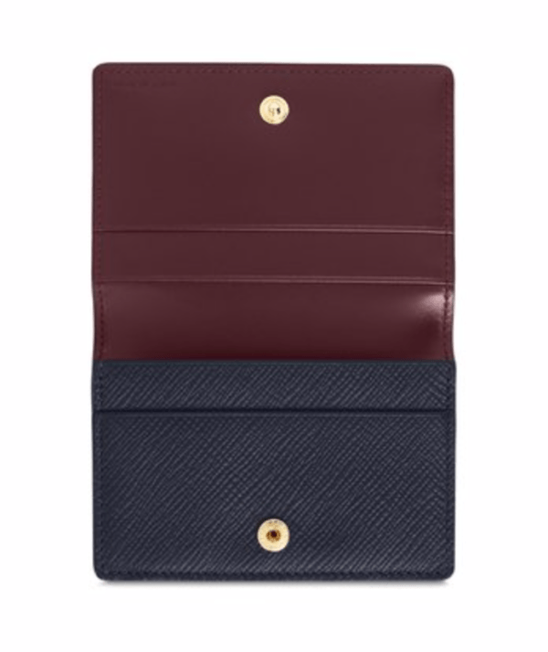 smythson panama business card holder