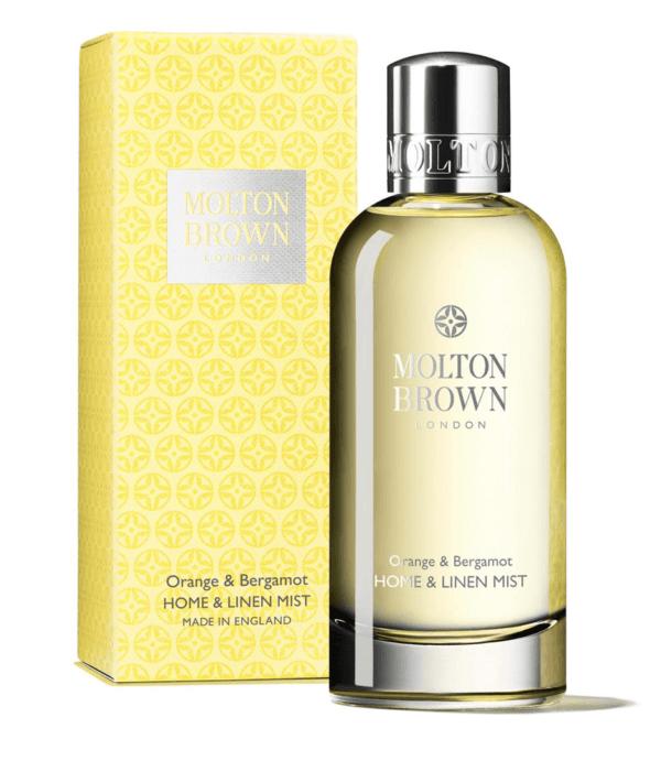 luxury home fragrance spray molton brown orange and bergamot home linen mist