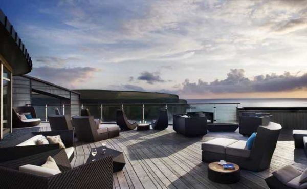 Scarlet-luxury hotel cornwall england on the beach