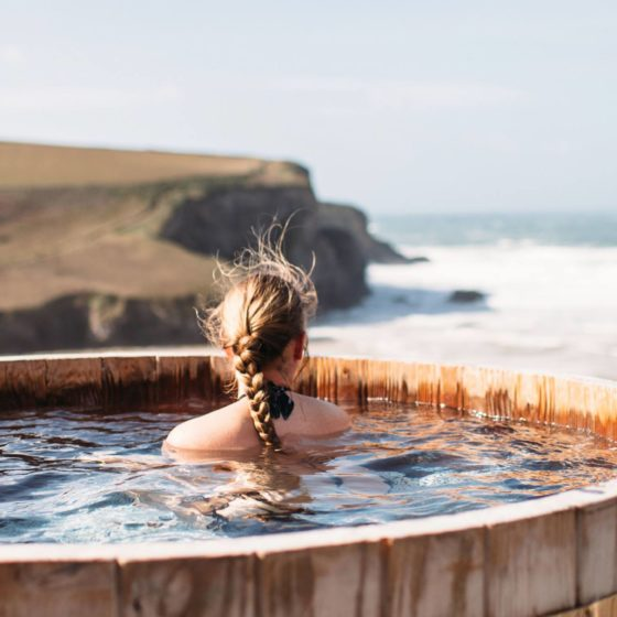 Scarlet-luxury hotel cornwall england on the beach swimming pool hot tub