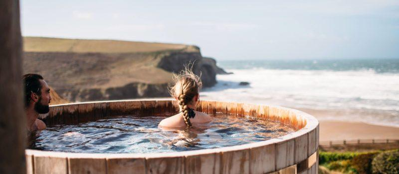 Scarlet-luxury hotel cornwall england on the beach swimming pool hot tub