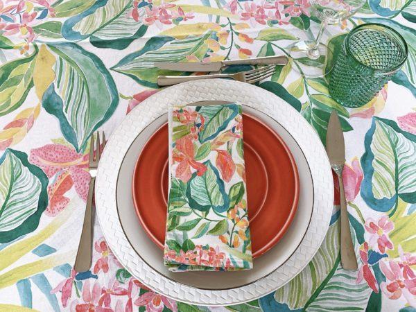 tablescape flower summer tablecloth el corte ingles vista alegre