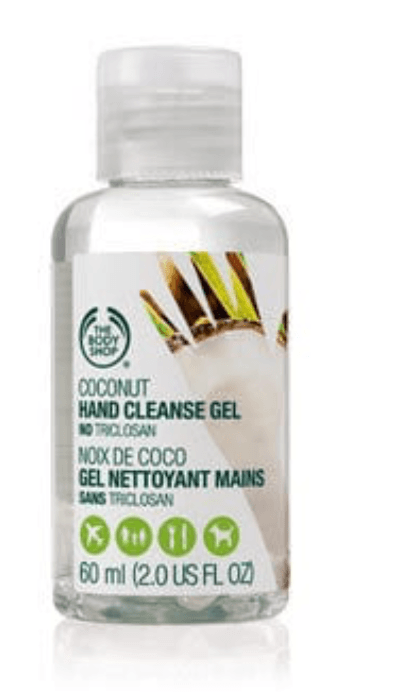 body shop coconut hand cleansing gel