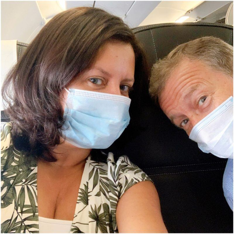 wearing a mask on british airways short haul flight