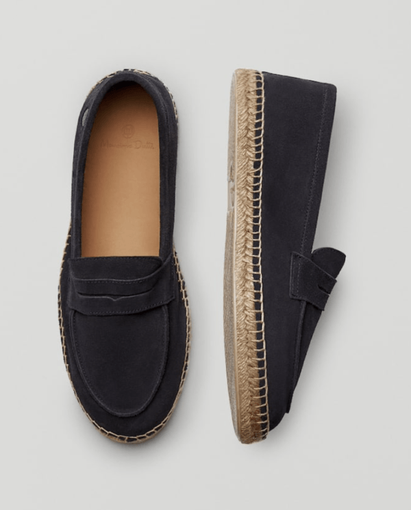 massimo dutti mens penny loafer espadrilles
