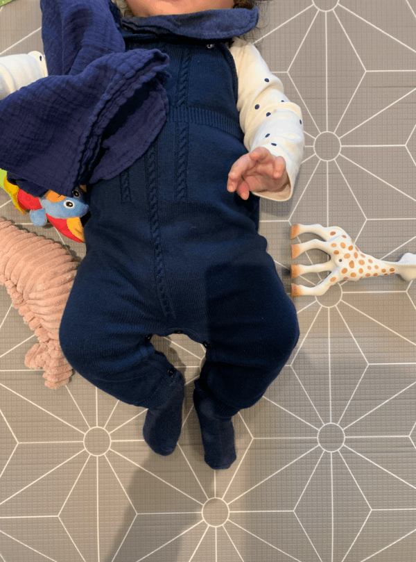 baby romper navy outfit