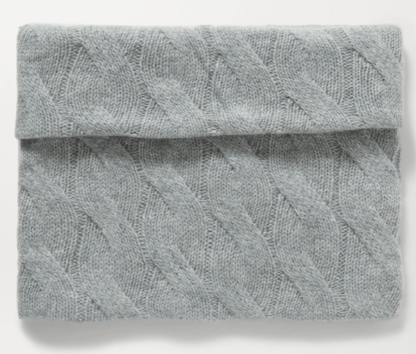 cable knit cashmere snood