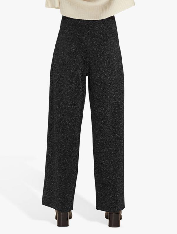 whistles sparkle ponte wide leg trousers