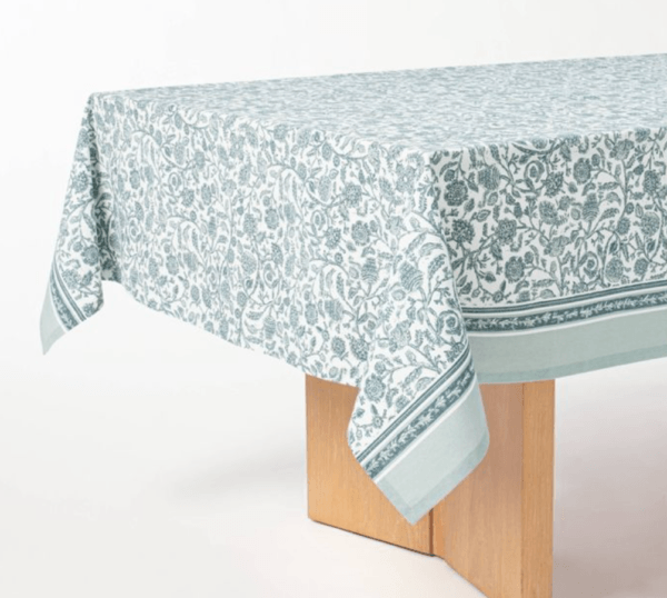 cotton floral tablecloth studio mcgee for target