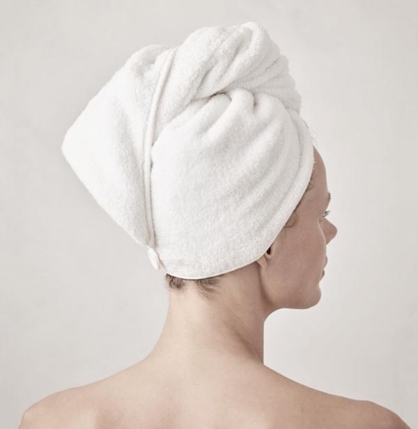 white company spa hair wrap towel turban