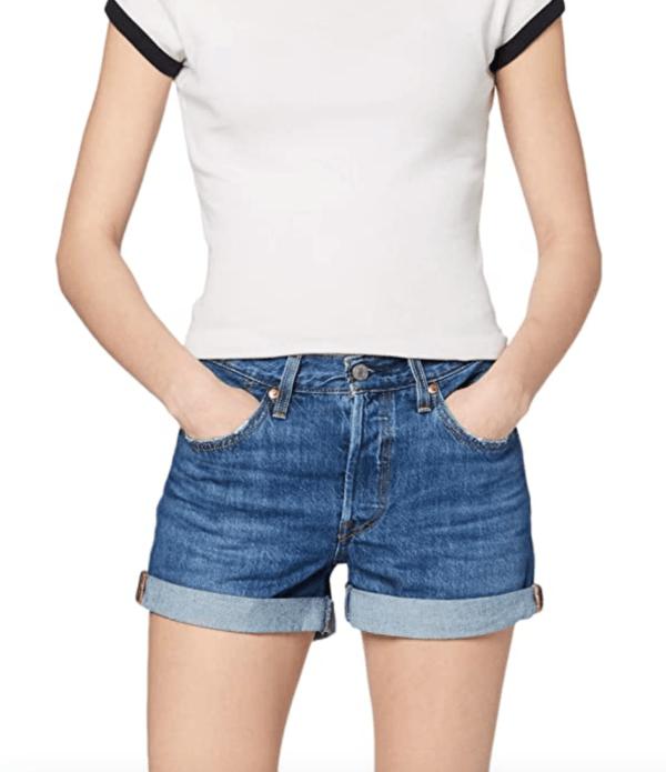 levis 501 women denim shorts