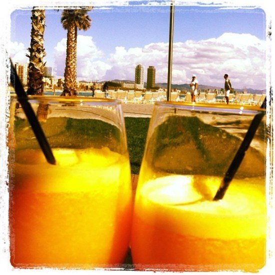 2 orange juices with a view