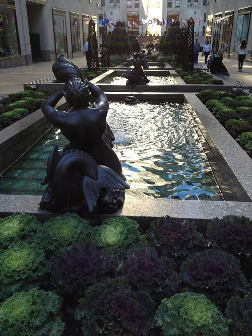 Beautiful Fountains in Rockefeller Center Image by Katie Goldstein