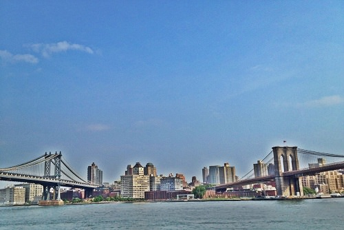 Brooklyn and Manhattan Bridges Image by Katie Goldstein