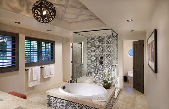 I adored our bathroom at Rancho Valencia