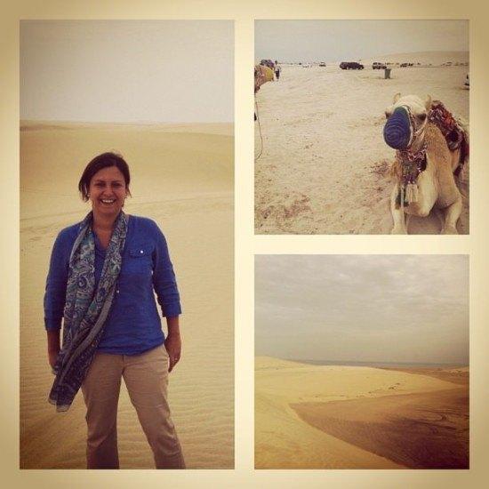The quiet of the desert.. humm...