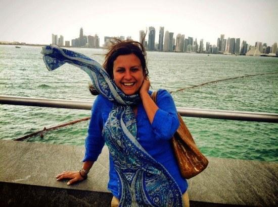 Mrs. O had quite a bit of fun in Doha!