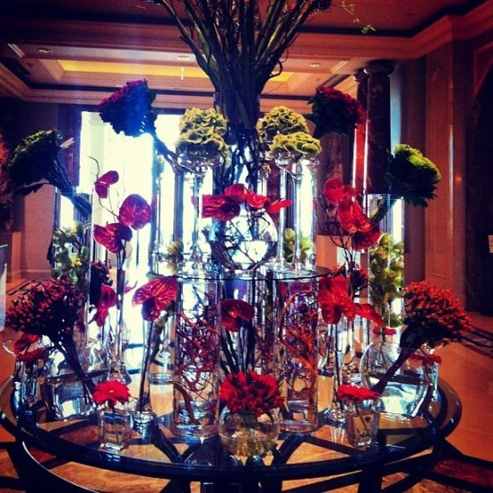 The stunning trademark FS lobby flowers