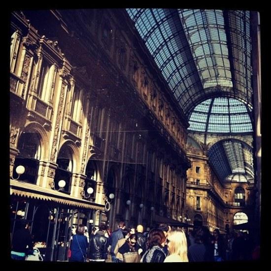 Galleria Vittorio Emmanuelle - always busy