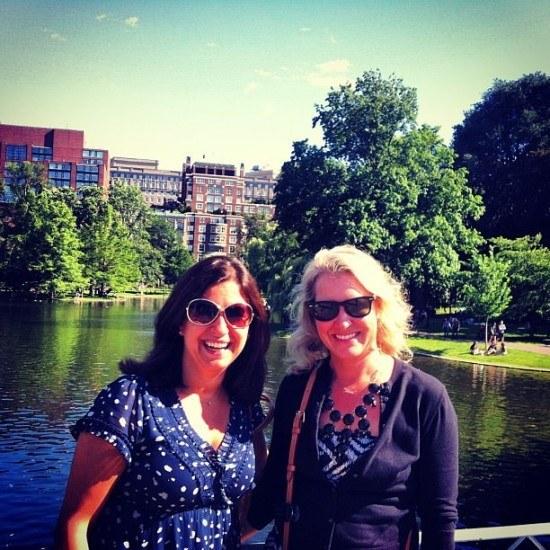 Moi and Lauren enjoying Boston's fab park