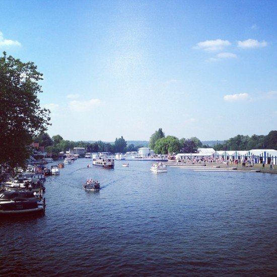 A great perspective from the Henley Bridge - Phyllis Court is on the left, and Stewards Enclosure on the right