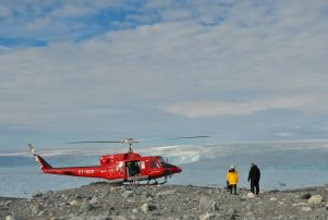 Helicopter at the top of the world