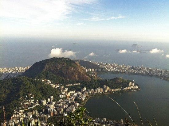 The Rodrigo de Freitas Lagoon in Rio, seen from the Corcovado